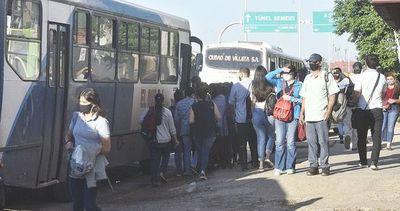 Gobierno avala que precio del pasaje de transporte público sea G. 5.000