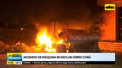 Desconocidos incendian maquinaria en predio del exclub Cerro Corá