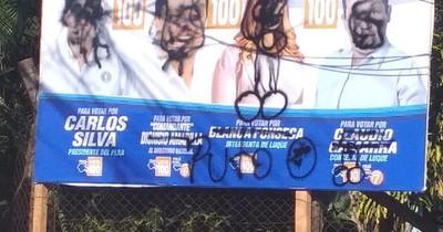 La Nación / Presuntos efrainistas destruyen propaganda de rivales en Luque, denuncian