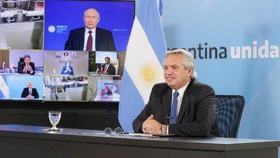 En reunión con Putin, Aníbal Fernández anunció vacunas para Paraguay