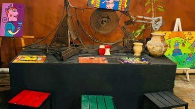 Pinturas al óleo y esculturas  en Placita del microcentro