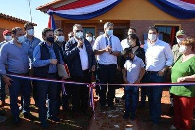 Mario Abdo Benítez inauguró obras en el departamento de Caaguazú