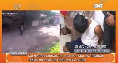 Detienen a sospechosos del asalto fatal ocurrido en barrio Trinidad