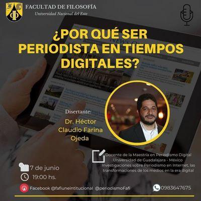 """Preparan conferencia sobre """"¿Por qué ser periodista en tiempos digitales?"""""""