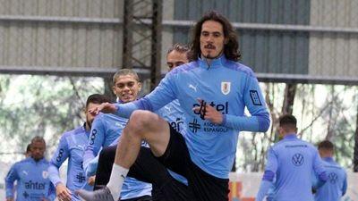 Cavani se suma a los entrenamientos de Uruguay