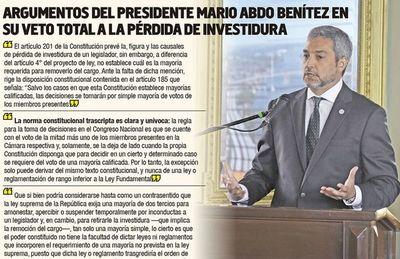 Mario Abdo no decide aún si veta el megablindaje o viola la Constitución