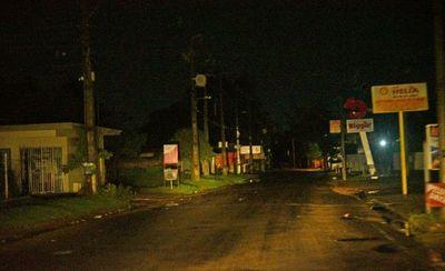 Varias zonas se quedaron a oscuras a causa del temporal