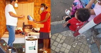 La Nación / Intendente regaló al pequeño Kevin un generador de oxígeno