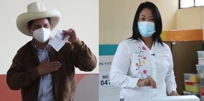 Encuestas a boca de urna vaticinan un escenario muy reñido entre Keiko Fujimori y Pedro Castillo