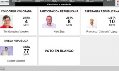 Colorados con cuatro opciones para la intendencia en Franco