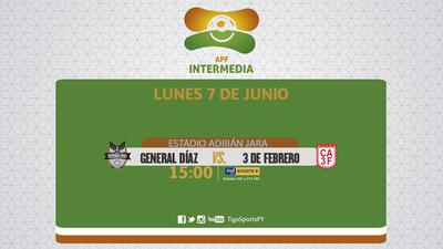General Díaz y 3 de Febrero cierran la fecha 11 de la Intermedia