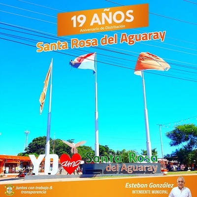 SANTA ROSA DEL AGUARAY RECORDÓ SUS 19 AÑOS DE EMANCIPACIÓN DISTRITAL