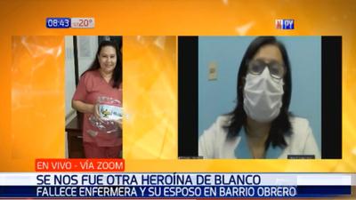 Gremio lamenta nueva muerte de enfermera por Covid-19