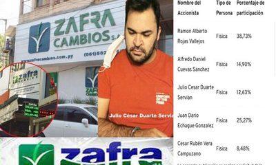 """Zafra Cambios S.A. mantiene como accionista a un """"narcodoleiro"""", integrante del clan García Morínigo – Diario TNPRESS"""