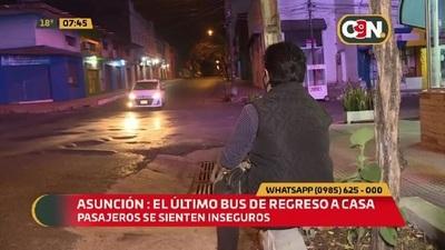 Asunción: Larga espera del último bus regreso a casa