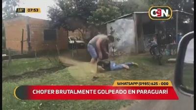 Chofer fue brutalmente golpeado en Paraguarí