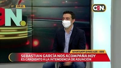 Recibimos al precandidato a la Intendencia de Asunción Sebastián García