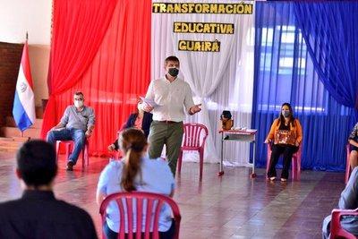 MEC invita a actores locales de Guairá a ser partícipes de la Transformación Educativa del país