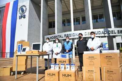 Hospital Integrado de Alto Paraná recibió otro lote de equipos e insumos vía Itaipu