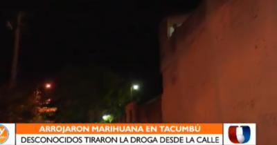 Arrojan marihuana en Tacumbú