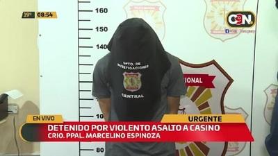 Detenido por violento asalto a casino en Capiatá