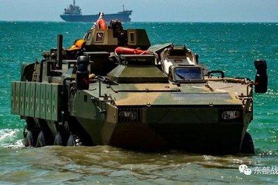 China realizó ejercicios militares anfibios frente a Taiwán