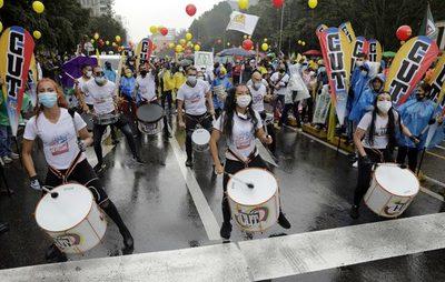 """La """"toma de Bogotá"""" se desinfla con una marcha sin apenas afluencia"""