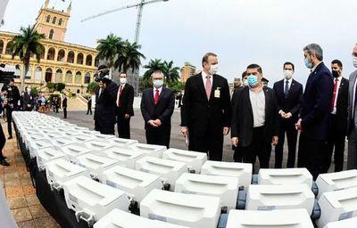 """En plena crisis, Marito hace """"show"""" con equipos comprados por la Itaipú"""