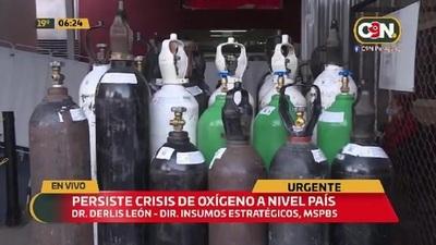 Persiste la crisis del oxígeno a nivel país