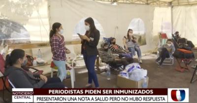 Periodistas solicitan ser inmunizados contra el Covid-19