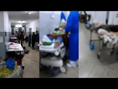 PACIENTES AGUARDAN POR DÍAS CONSEGUIR CAMILLA EN EL HOSPITAL RESPIRATORIO
