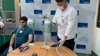 Emprendedor logra licencia de dispositivo útil contra el Covid-19