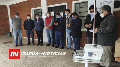 ROTARY CLUB ENCARNACIÓN APOYA AL HOSPITAL REGIONAL CON EQUIPO DE ALTO FLUJO.