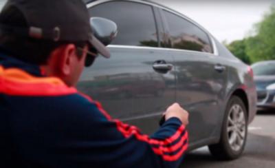 Delincuentes hurtan Gs. 10.000.000 del interior de una camioneta
