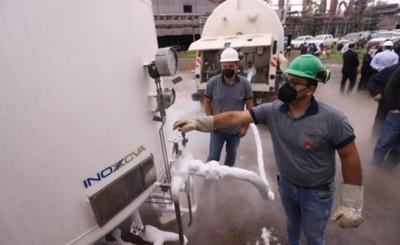 Acepar provee primera carga de oxígeno para hospitales públicos