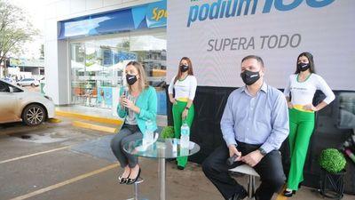 Petrobras presenta su nafta Podium  100 octanos en Ciudad del Este