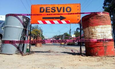 Desvíos en barrio María Auxiliadora por obras sobre Primer Presidente