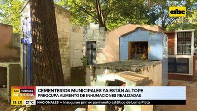 Cementerios de Central y Asunción, al tope: preocupa aumento excesivo de inhumaciones diarias