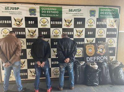 Detienen a un paraguayo y dos brasileños con droga en Ponta Porã