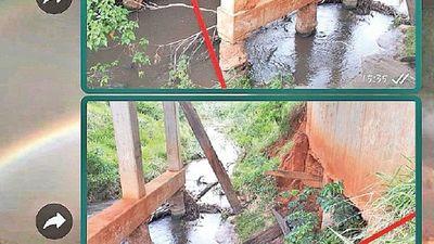 MOPC admite que  puente colapsado debió ser intervenido hace 2 meses
