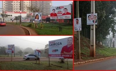 Esteños sufren polución visual causada por carteles políticos