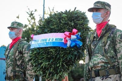 Realizan ofrenda floral en conmemoración a la Paz del Chaco