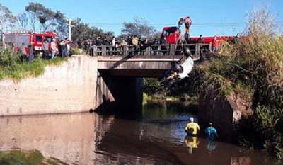 Tres muertos y un sobreviviente tras la caída de un automóvil a un arroyo
