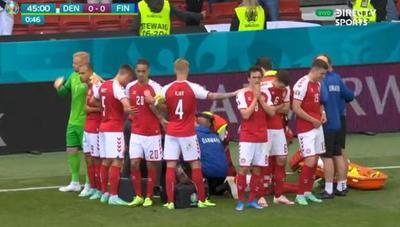 Jugador se desploma súbitamente en pleno partido de la Eurocopa