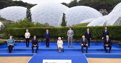 La Nación / Reina Isabel II con el G7, en primera reunión presencial en dos años