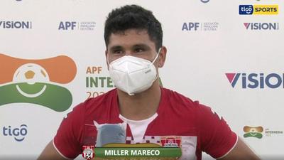 Miller Mareco, la figura del partido ante Santaní