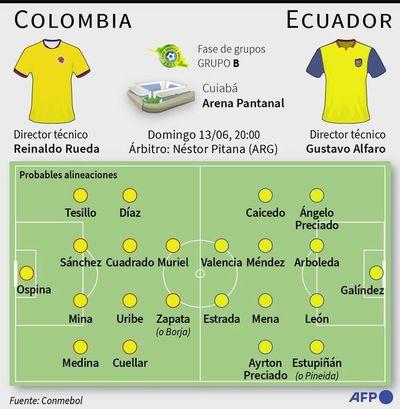 Colombia va por una revancha ante Ecuador