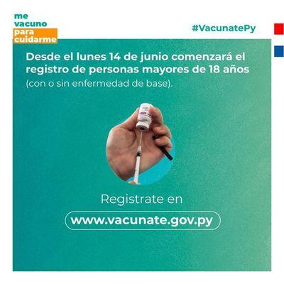 Sin dosis disponibles, Gobierno habilita desde mañana registro de vacunación para mayores de 18 años