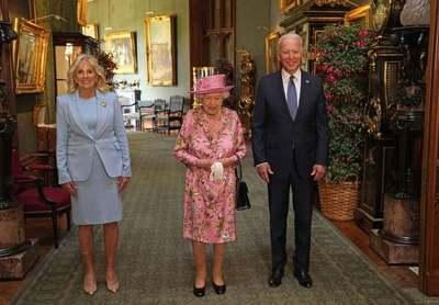 Joe Biden, y su esposa Jill, tomaron el té con la Reina Isabel tras la cumbre del G7