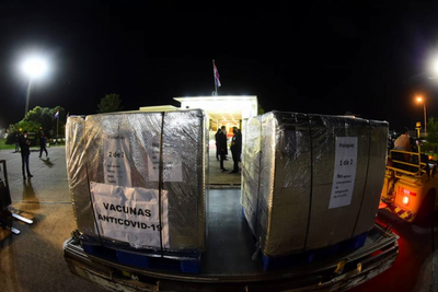 Llegó donación de 150.000 dosis enviadas por México